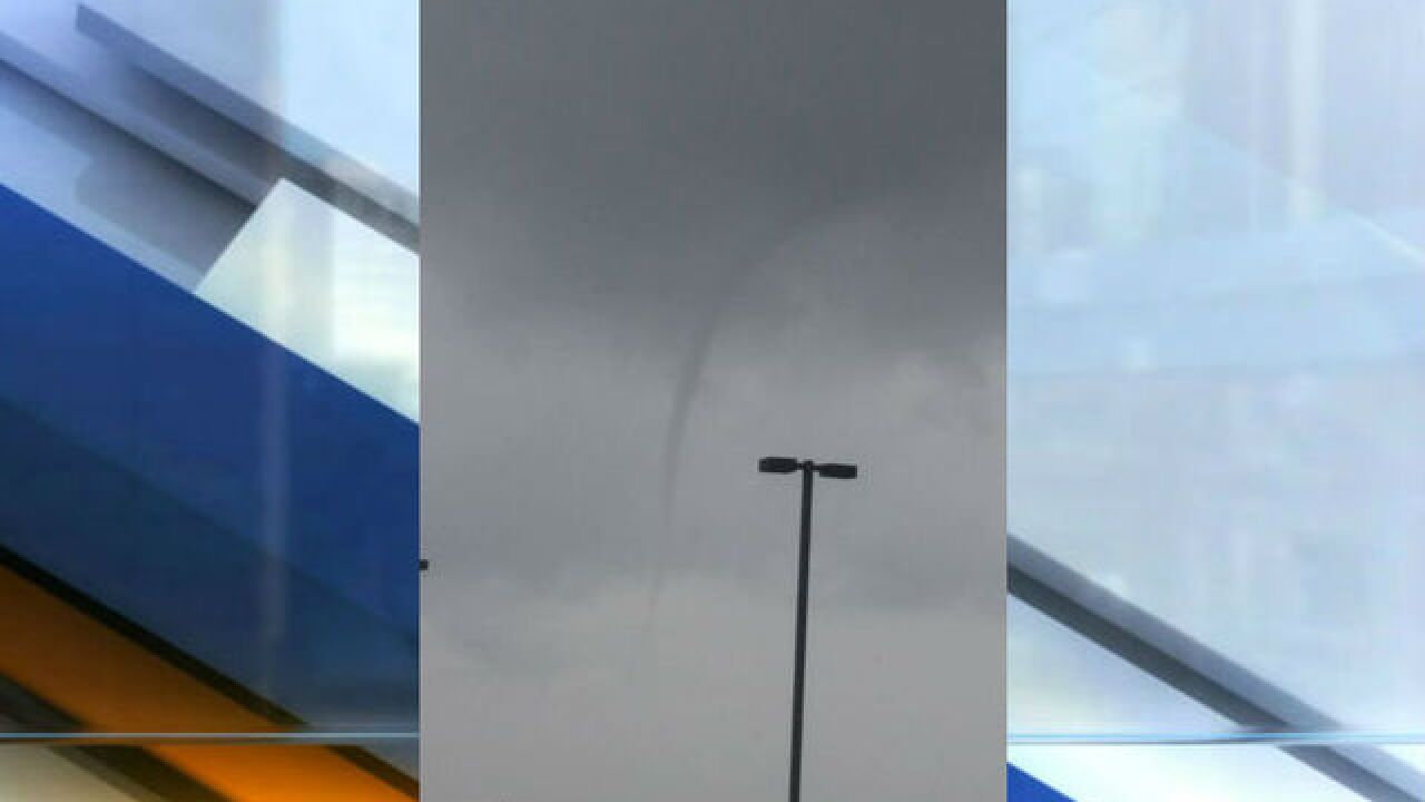 Cold weather funnel cloud spotted in Madison Co.