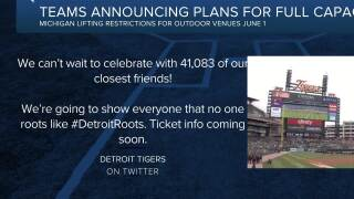 Teams announcing plans for full-capacity crowds