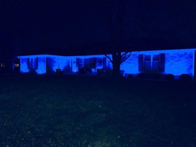 PHOTOS: Blue lights across Indiana for Deputy Jacob Pickett