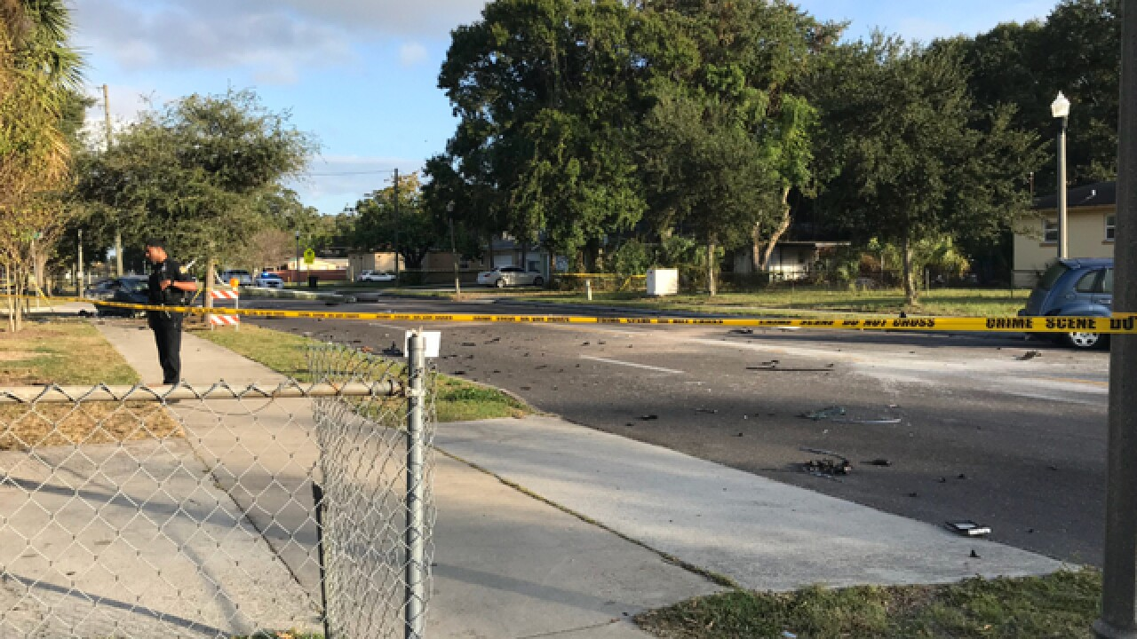 Woman critically injured in St. Pete crash