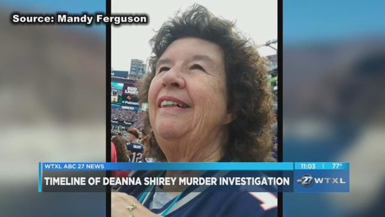 Timeline of Deanna Shirey murder investigation