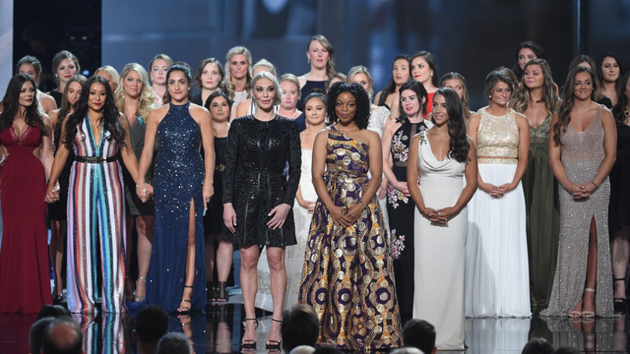 Sex abuse victims accept courage award at ESPYs