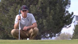 Manhattan Christian senior golfer Caidin Hill