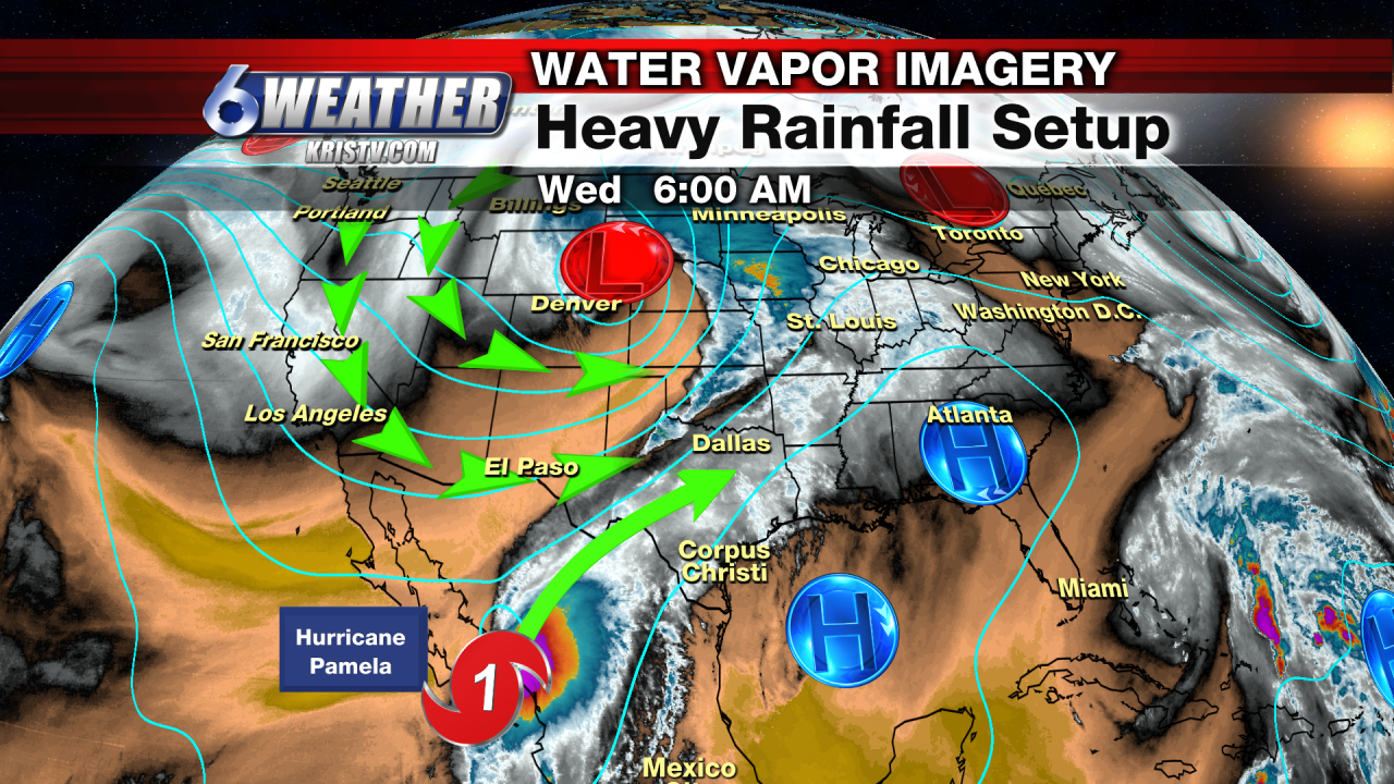 Heavy Rainfall Setup from a Cold Front & Moisture Associated with Pamela