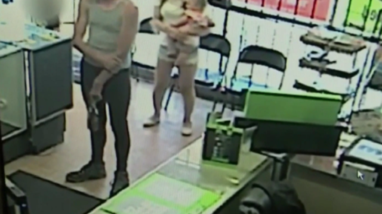 WATCH: Chilling video shows man snatching child from inside store
