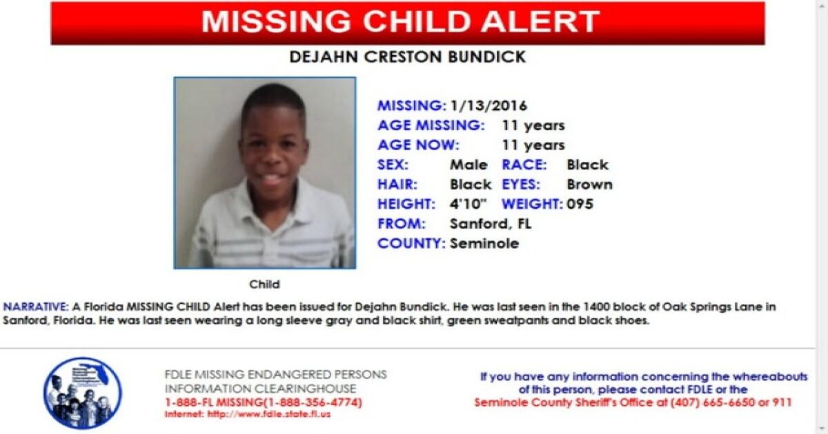 UPDATE: Missing Sanford child case is resolved