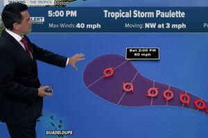 Tropical Storm Paulette forms in Atlantic Ocean
