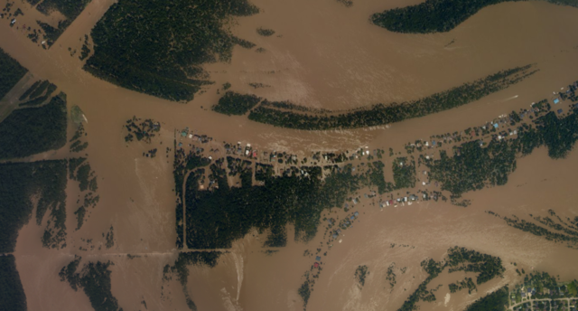 Hurricane Harvey before and after: Overhead photos show the destruction