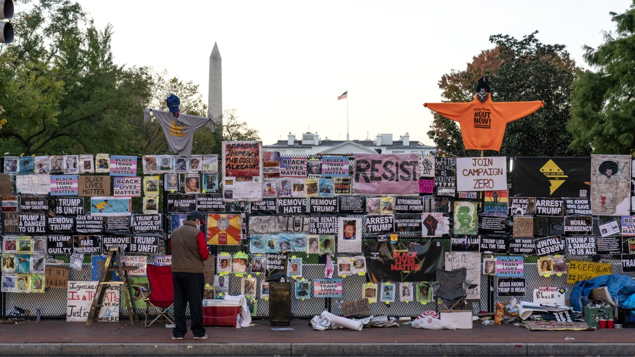Protesters gather in Washington DC as nation awaits Election Day results