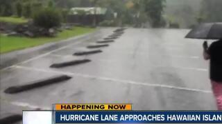 Hurricane Lane approaches Hawaiian Islands