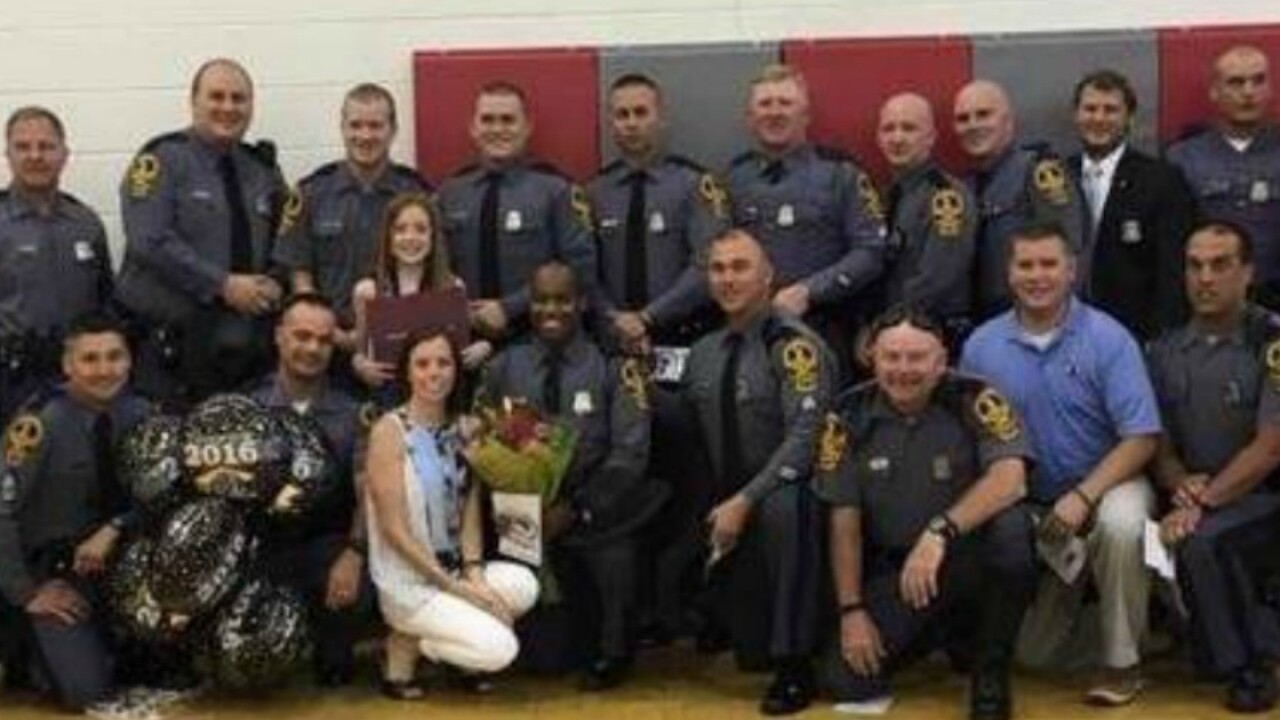 Virginia State Police attend graduation for Trooper Dermyer's daughter