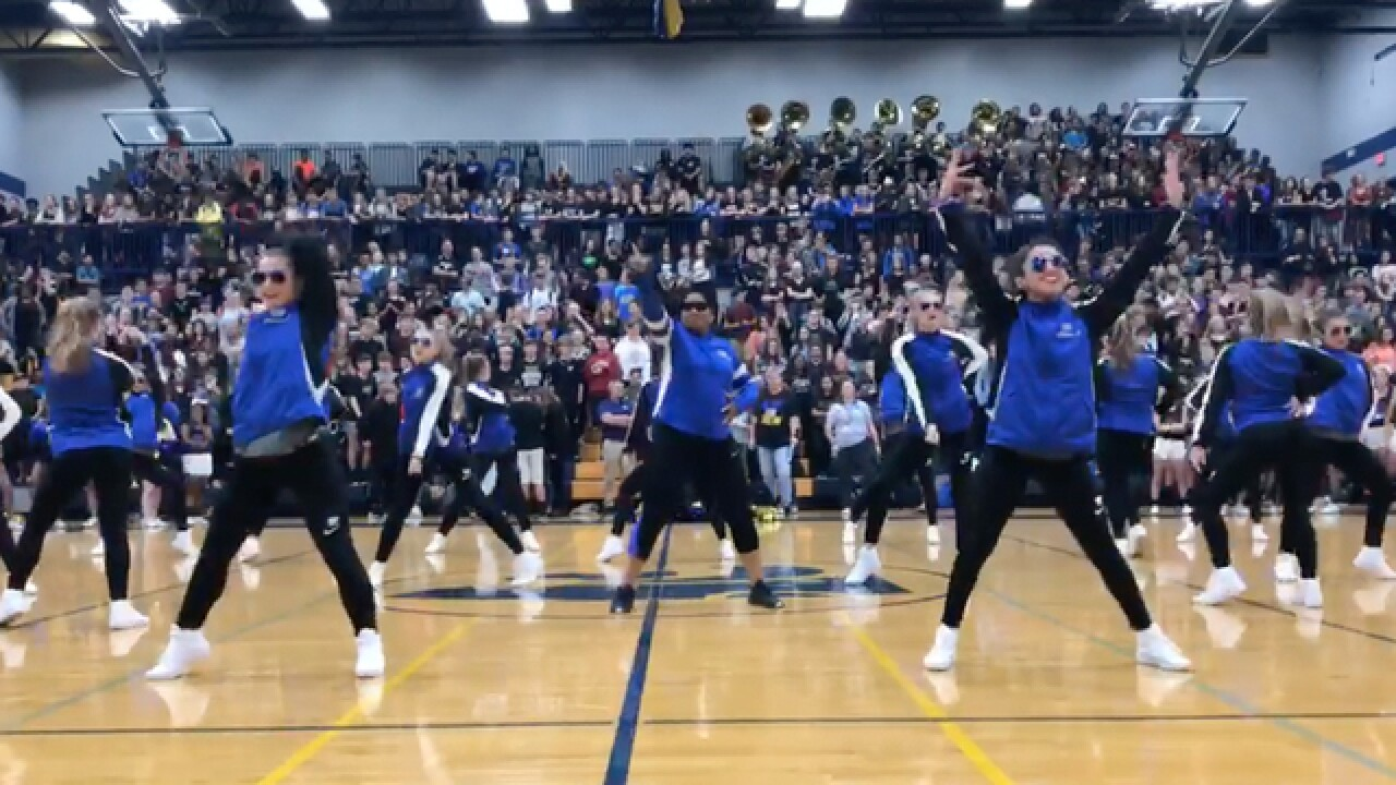 Level Up Challenge: Assistant Principal Joins Dance Team At Pep Rally