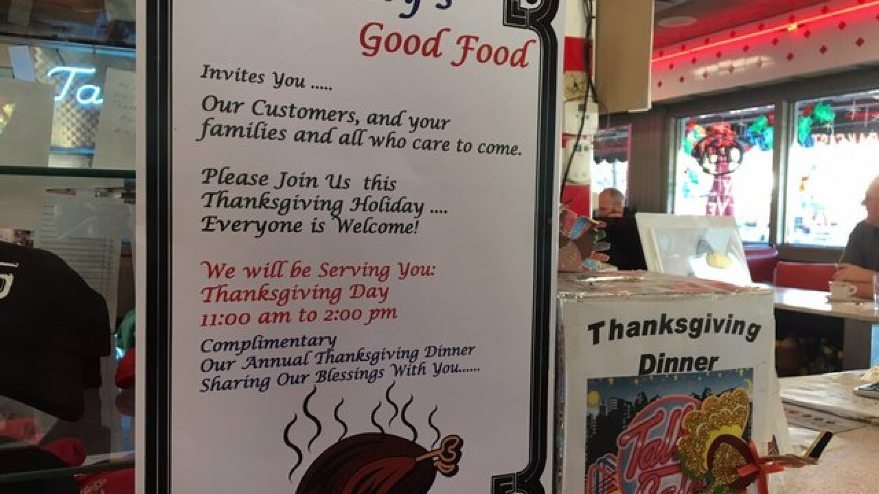 List Of Restaurants Open On Thanksgiving Day