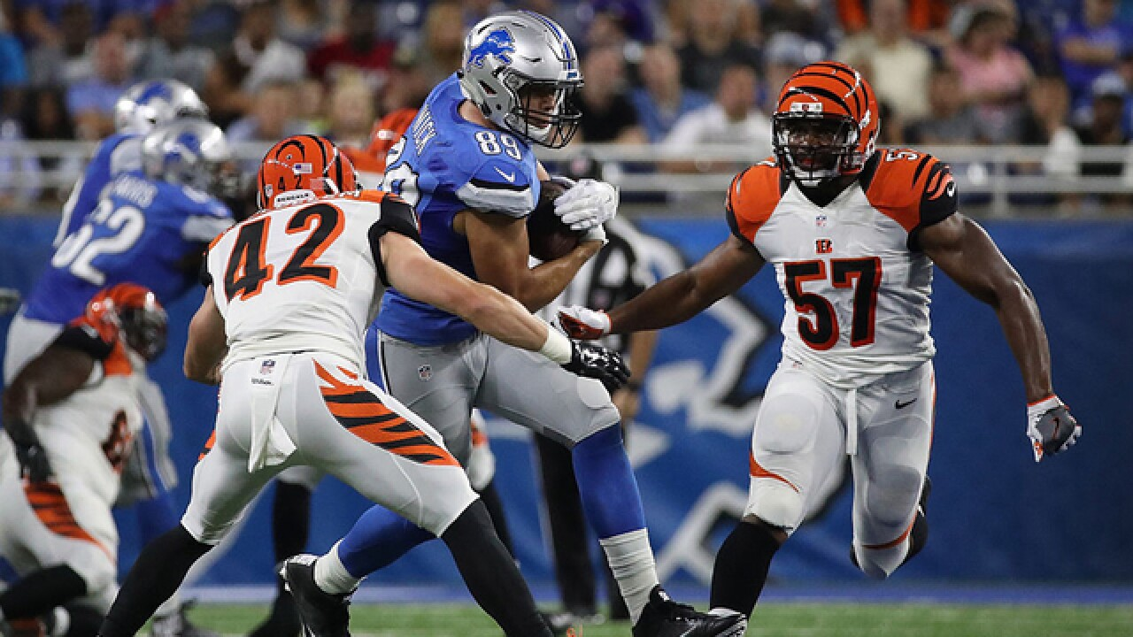 Jeremy Hill's early touchdown helps Bengals to 30-14 win over Lions