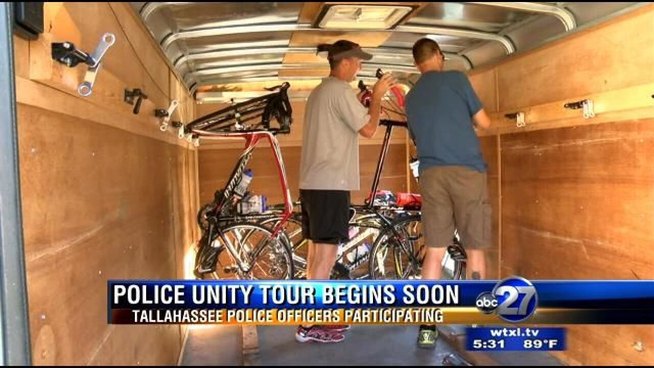 Tallahassee Officers to Bike Hundreds of Miles to Honor Those Killed in the Line of Duty