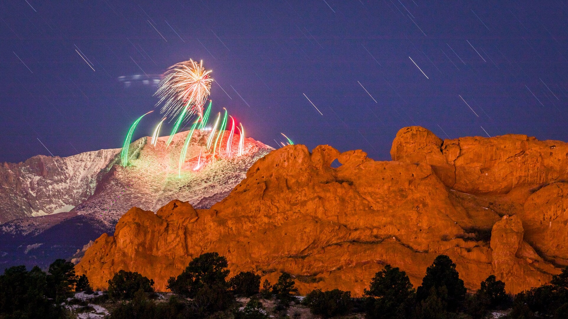 New Years Eve Fireworks on Pikes Peak from Forrest Boutin Photography.jpg
