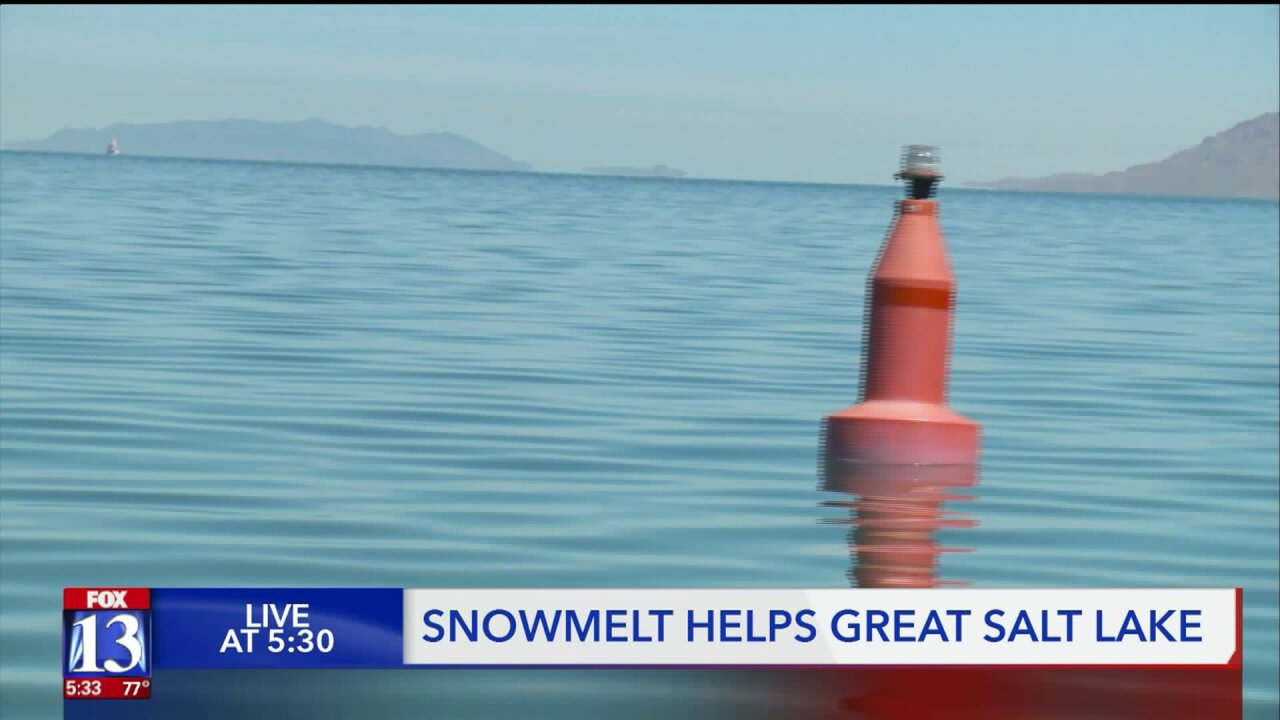 Snowmelt helping to increase volume of Utah's lakes