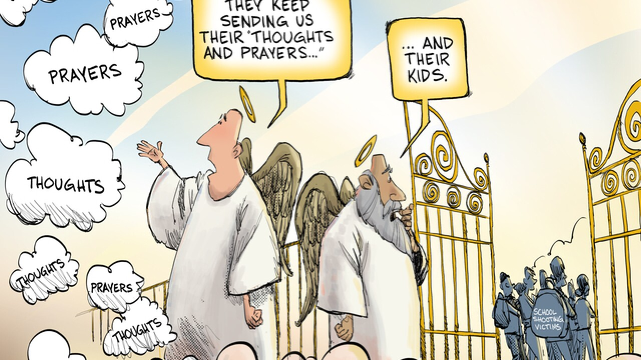 EDITORIAL CARTOON: Thoughts and prayers