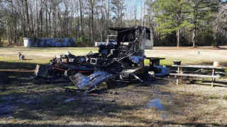 A father and son on the Eastern Shore are in the hospital recovering from burns caused by a gun that accidentally went off in their travel trailer.