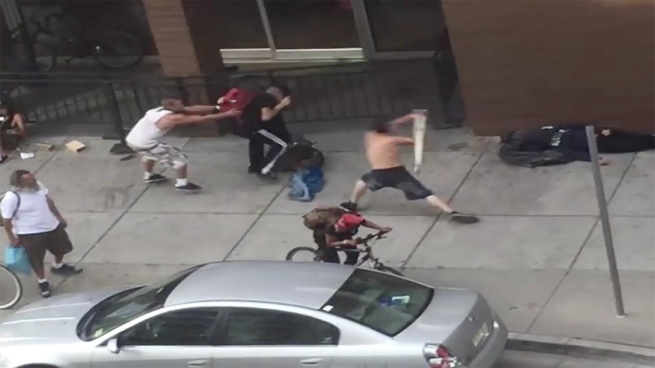 VIDEO: Violent homeless attack at Denver mall