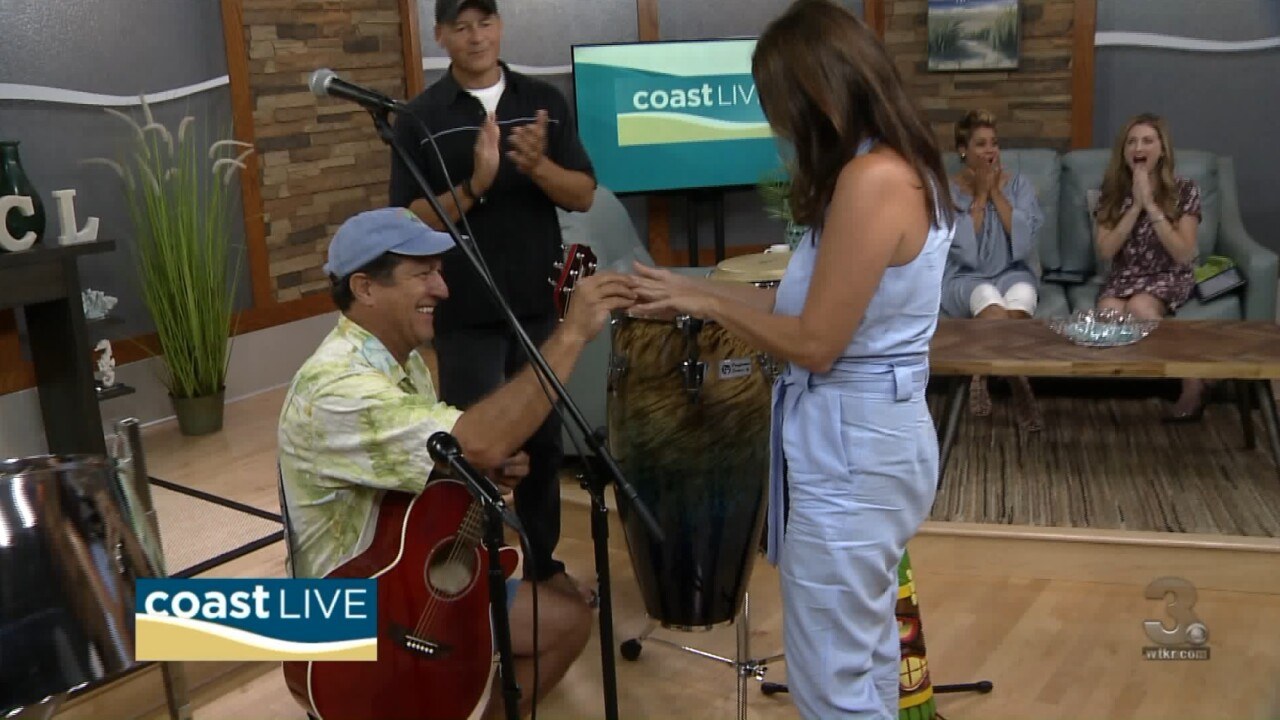 Local music spotlight (and a live proposal!) with The Tiki Bar Band on CoastLive