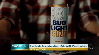 A preview of the Bud Light Seltzer Super Bowl commercial on Coast Live
