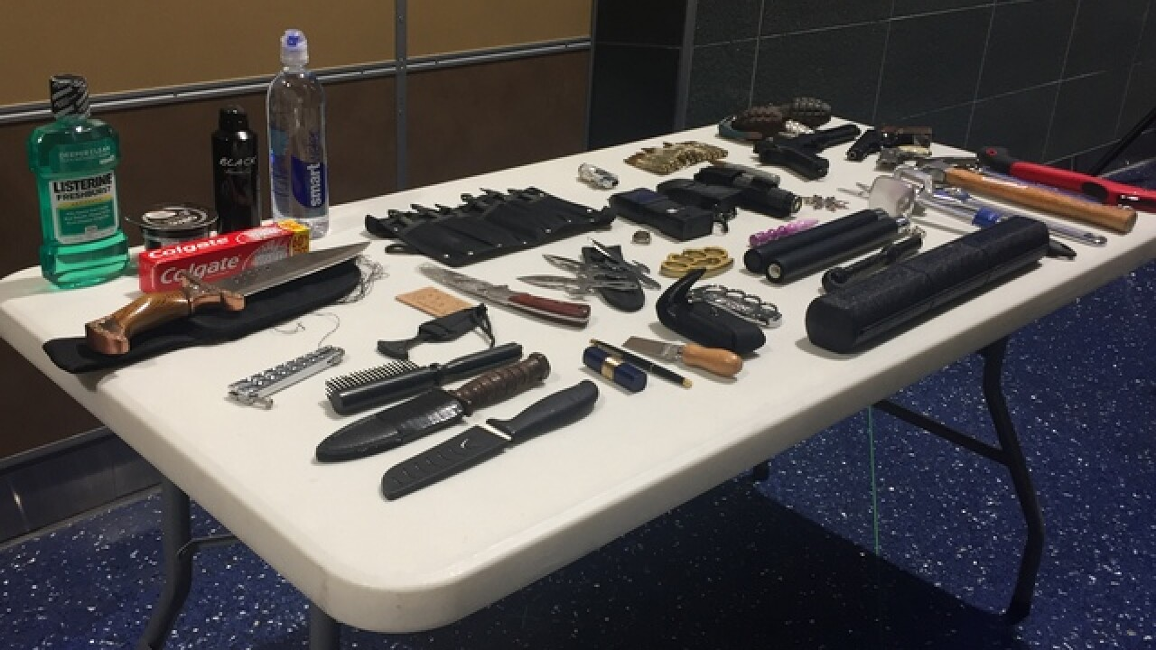 Number of firearms found at KCI on the rise