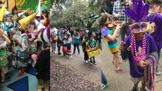 Lafayette Parish schools celebrate Mardi Gras