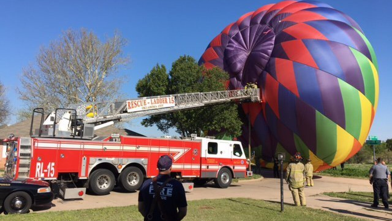 No injuries in hot air balloon accident in OKC
