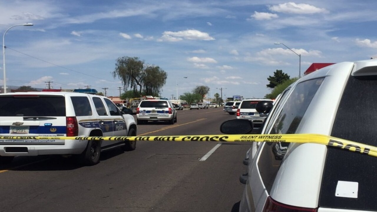 Suspect down in PHX PD officer-involved shooting