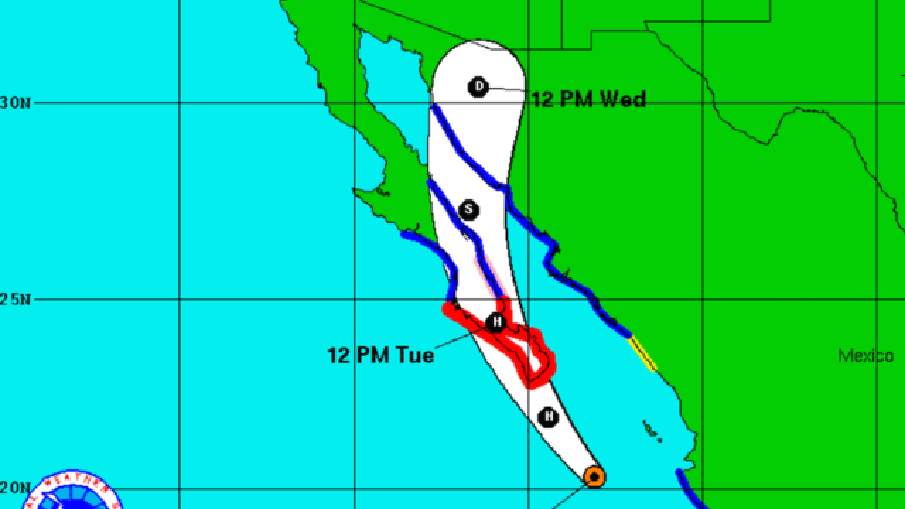 Hurricane Newton strengthens, expected to hit northern Baja, Calif. on Tuesday