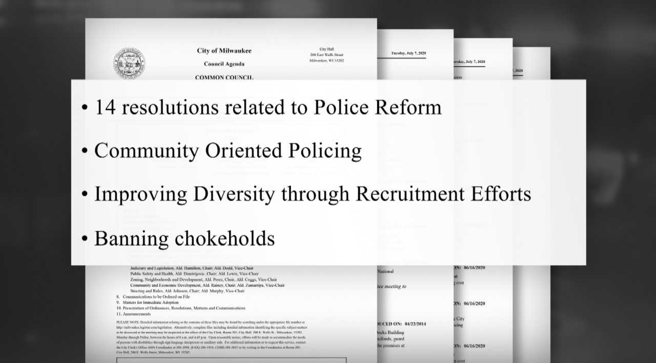Milwaukee Common Council efforts at police reform