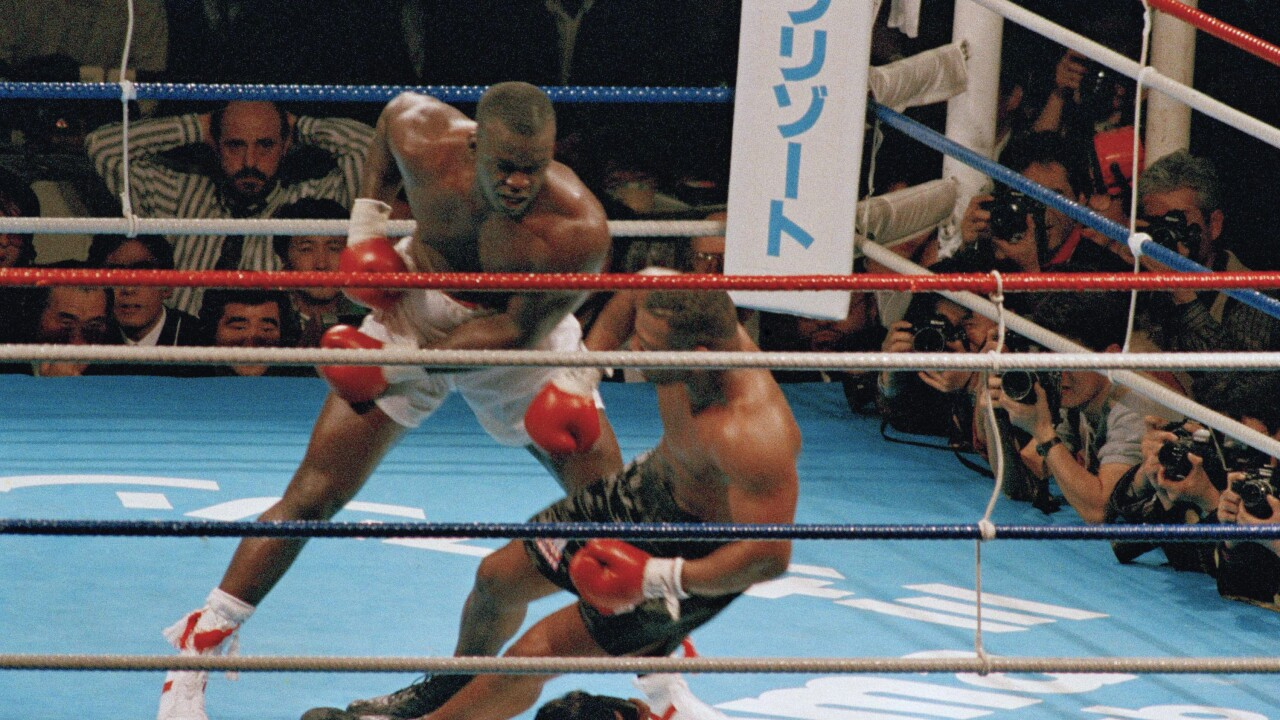 Mike Tyson and James Buster Douglas 1990
