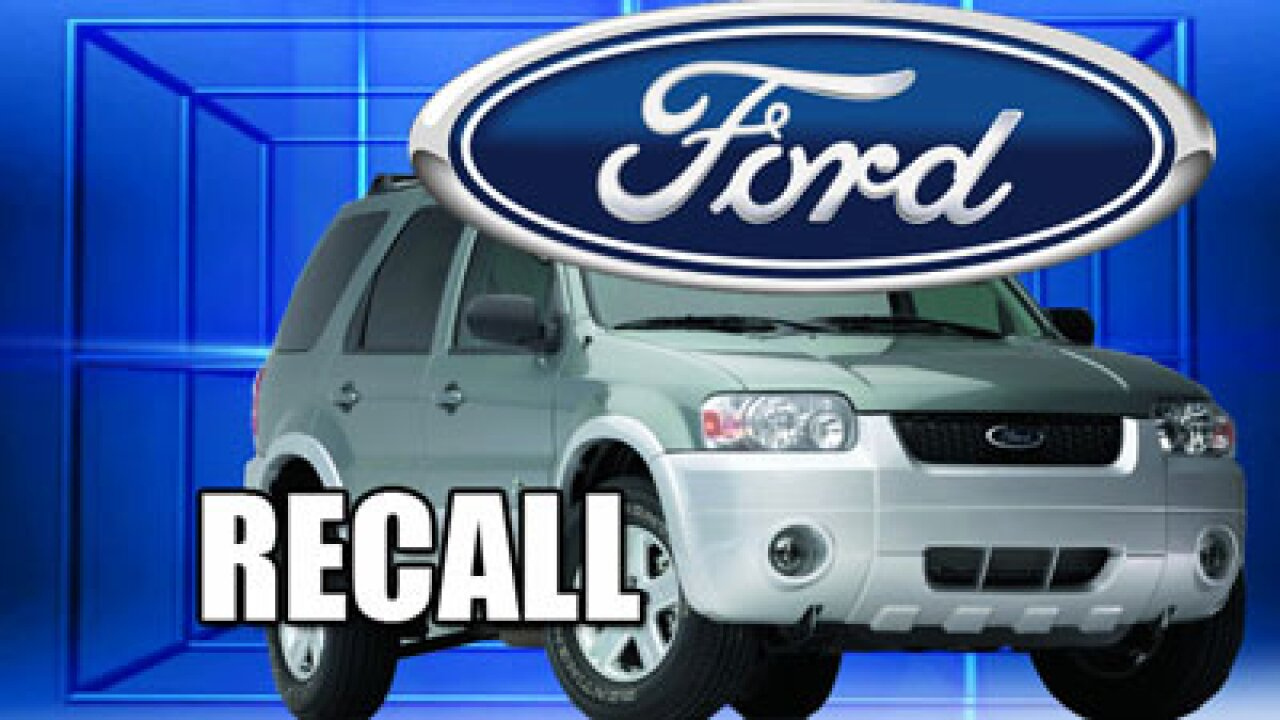 Ford recalls SUVs