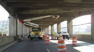Western Hills Viaduct inspection