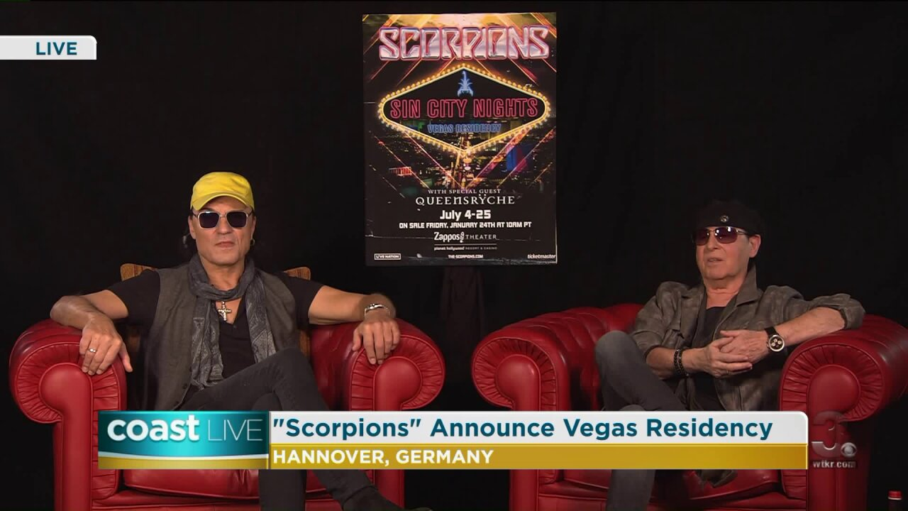 "Talking with the iconic rock band ""Scorpions""about their Las Vegas residency on Coast Live"