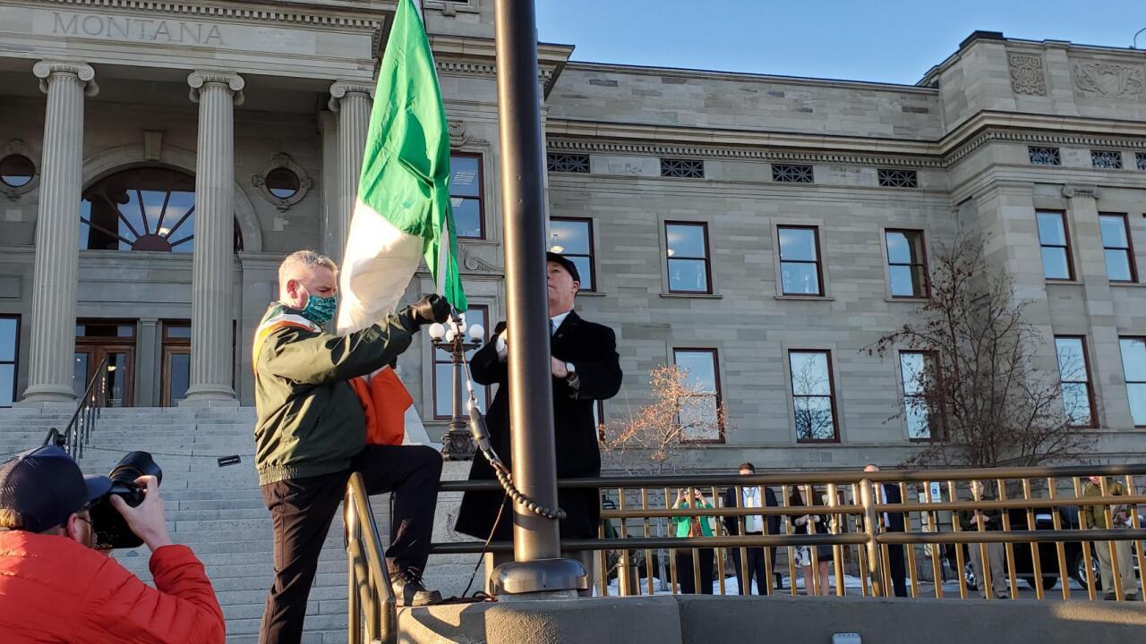Tricolor flag raising