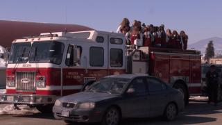 Helena High girls basketball team celebrates 3rd state title aboard fire truck