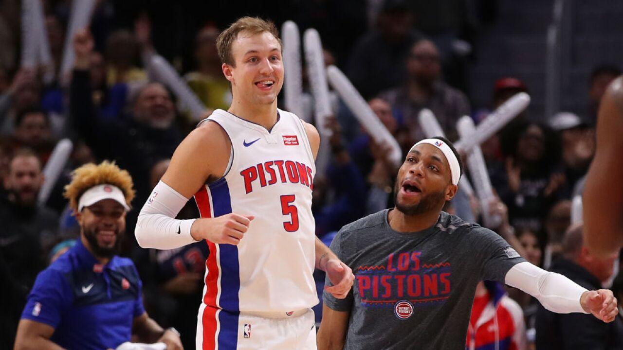 super popular 58caa d17fc Detroit Pistons guard Luke Kennard embraces the opportunity ...