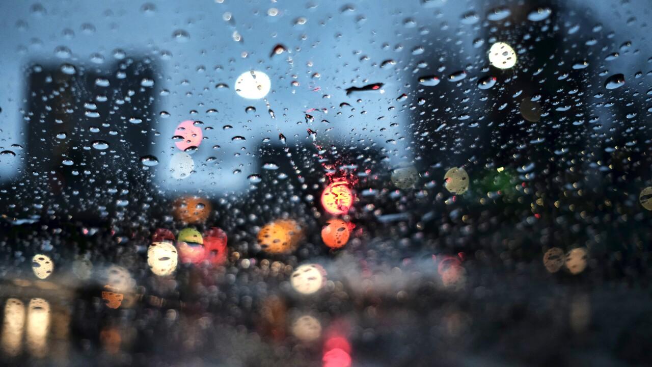 California Storms night rain wet weather