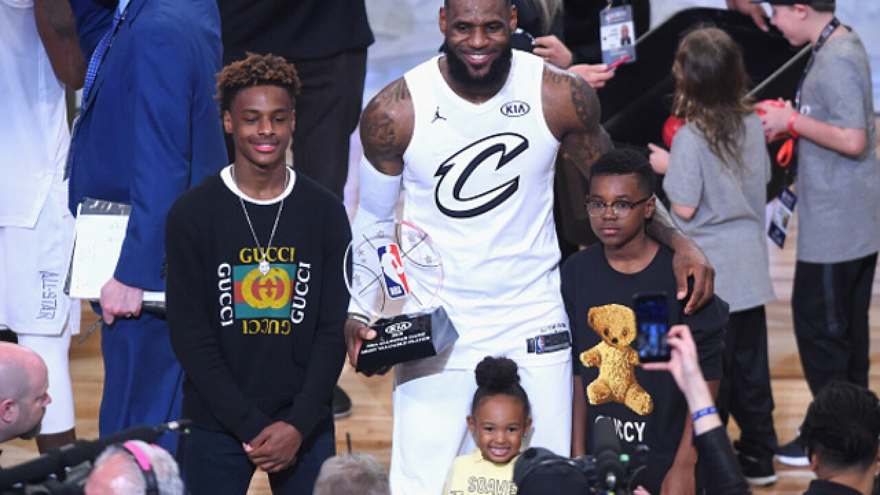 eccb7d5ada8b LeBron James Jr. honors father by wearing No. 23