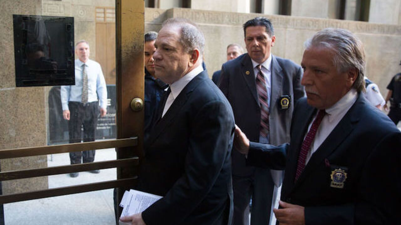 Harvey Weinstein is in court today; part of charges dropped