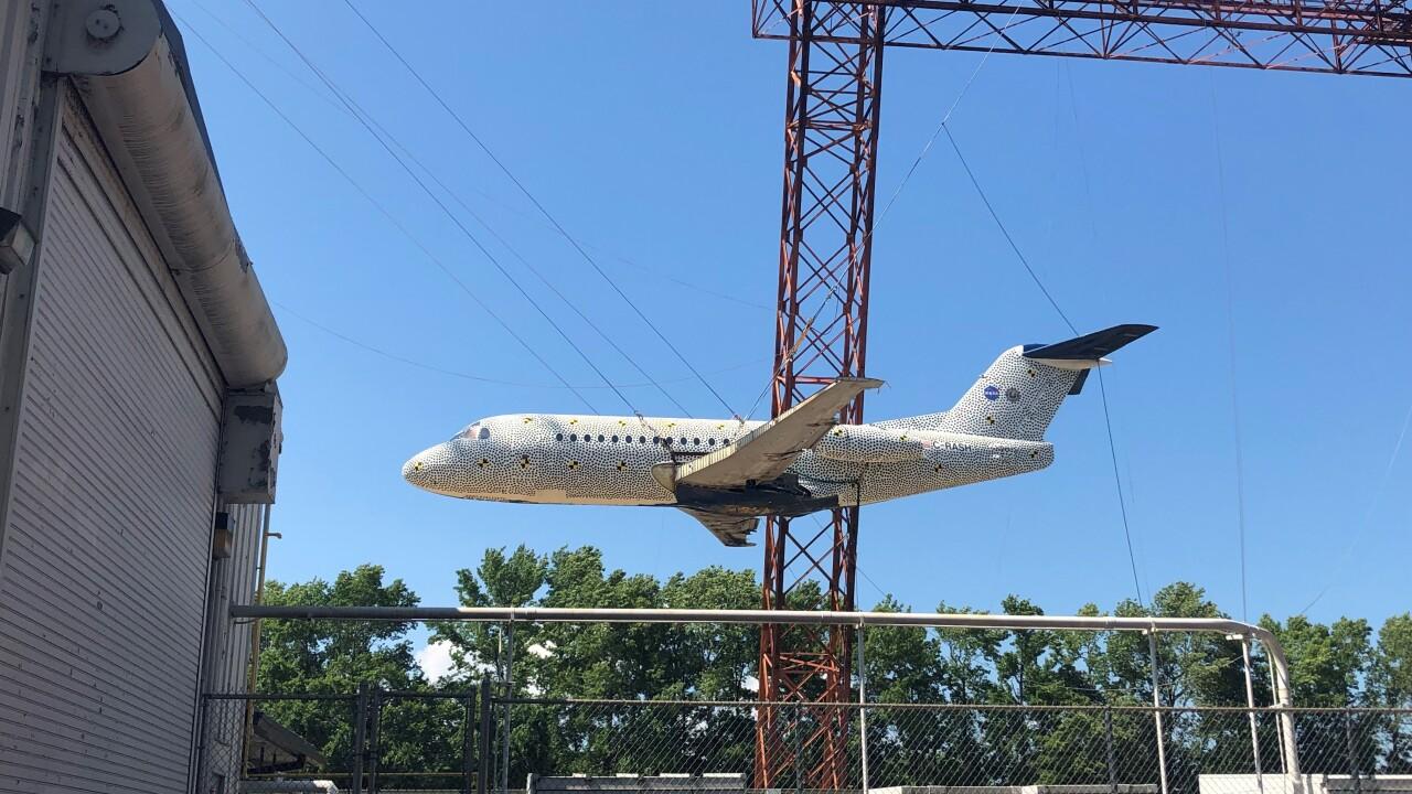 NASA Langley Research Center drops regional jet to analyze crash impact anddata