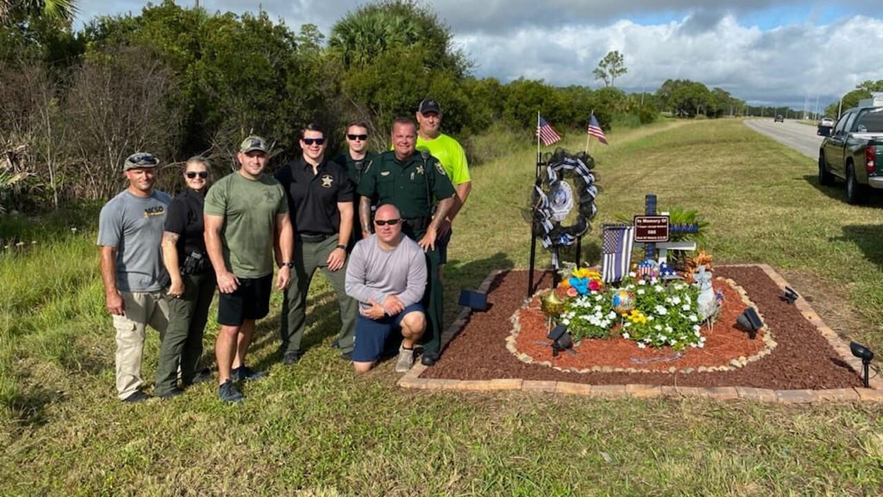 Trooper Joseph Bullock memorial enhanced in Martin County.