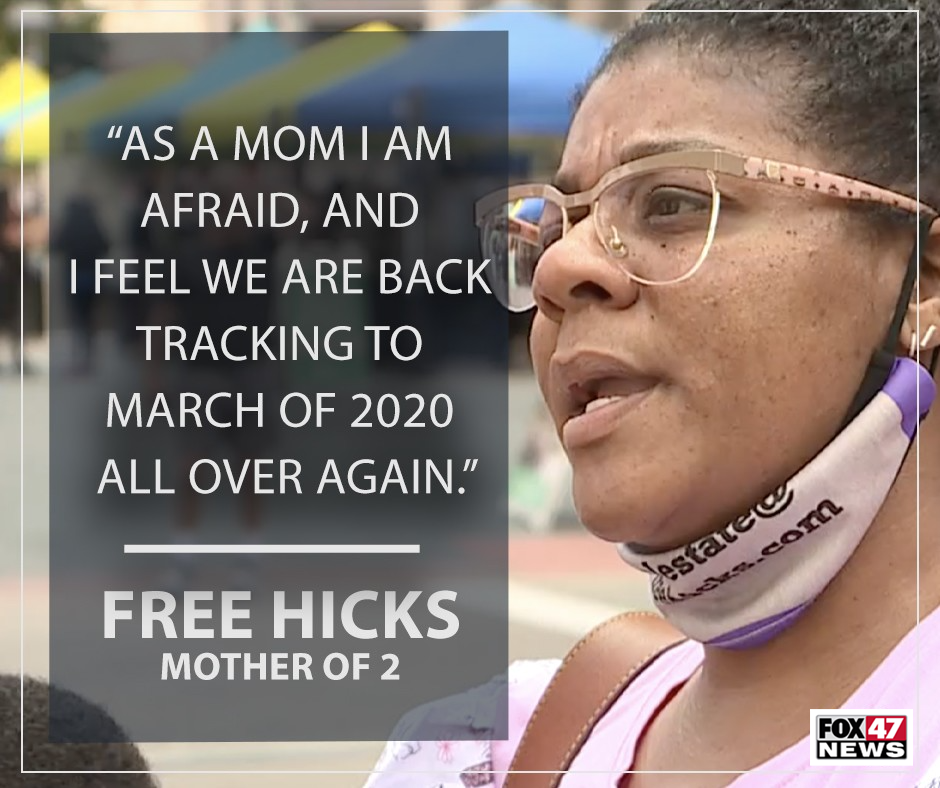 Free Hicks, a local mother of two