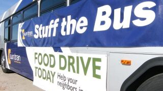 """Stuff-the-Bus"" food drive taking place Friday"