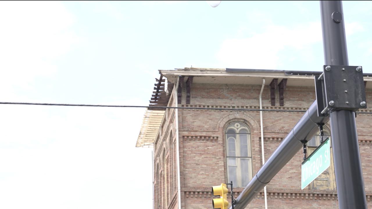 Jonesville City Hall damage