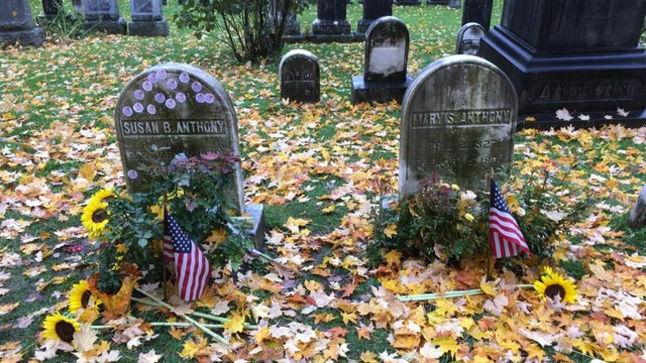 146 years after Susan B. Anthony cast a history-changing vote, women are sharing their voting pride