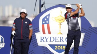 Phil Mickelson and Rickie Fowler at 2018 Ryder Cup