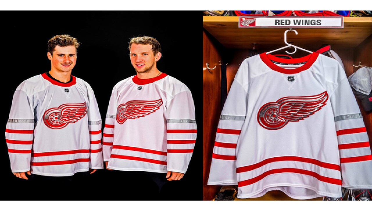 best website e913a 2d696 Detroit Red Wings unveil jerseys for Centennial Classic